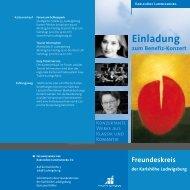 Einladung zum Benefiz-Konzert - Karlshöhe Ludwigsburg