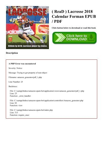 ( ReaD ) Lacrosse 2018 Calendar Forman EPUB  PDF