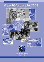Studentenwerk Geschäftsbericht 2004