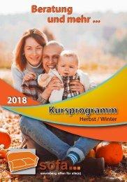 SOFA-Programm Herbst-Winter 2018