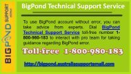 Bigpond Technical Support Service 1-800-980-183 Number Australia