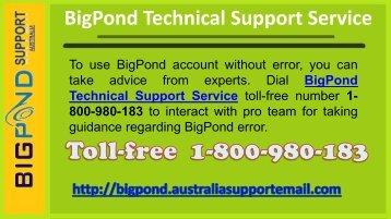 Bigpond Technical Support Service 1-800-980-183 Number Australia