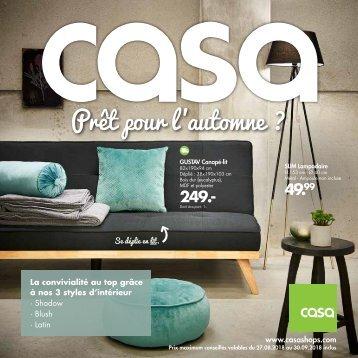 Casa catalogue 28 août-30 septembre 2018