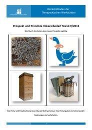 Prospekt und Preisliste Imkereibedarf Stand 9/2012 - Karlshöhe ...