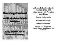 Johann Sebastian Bach Kantate BWV 149 - Karlshöhe Ludwigsburg