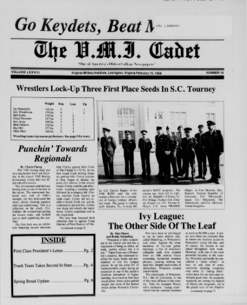 The Cadet. VMI Newspaper. February 19, 1988 - New Page 1 ...