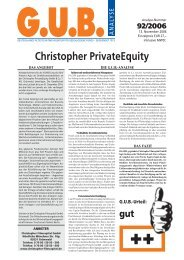 Christopher PrivateEquity - G.U.B.-Fondsguide