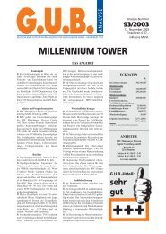 MILLENNIUM TOWER - G.U.B.-Fondsguide