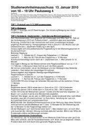 Studienwohnheimausschuss 13. Januar 2010 von 18