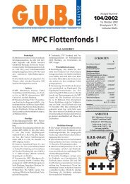 MPC Flottenfonds I