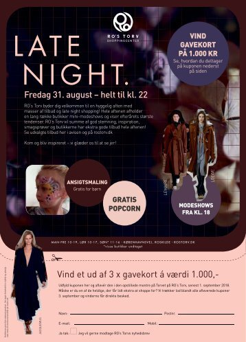 RO's Torv Late Night fredag 31/8