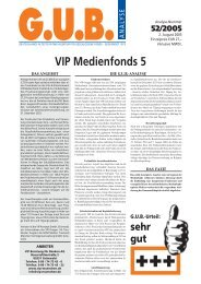 VIP Medienfonds 5 - G.U.B.-Fondsguide