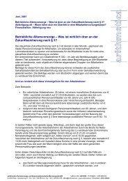 Betriebliche Altersvorsorge - Arithmetica Versicherungs