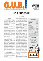 USA FONDS III - G.U.B.-Fondsguide