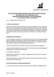 Kirchliches Examen bDA - Karlshöhe Ludwigsburg
