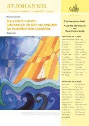 Konfirmation 2012 - St.Johannis