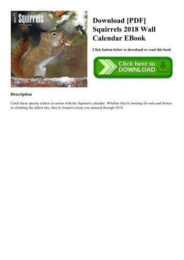 Download [PDF] Squirrels 2018 Wall Calendar EBook