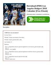 Download [PDF] Los Angeles Dodgers 2018 Calendar [Free Ebook]