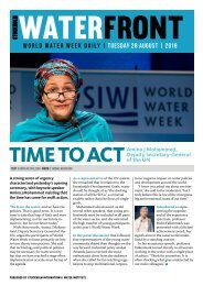 World Water Week Daily Tuesday 28 August, 2018