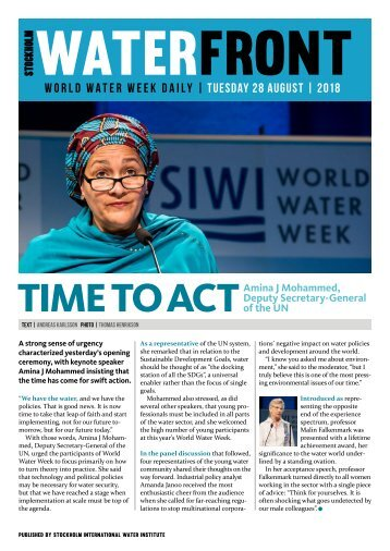 World Water Week Daily Tuesday webb