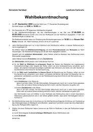 Wahlbekanntmachung - Gemeinde Karlsbad
