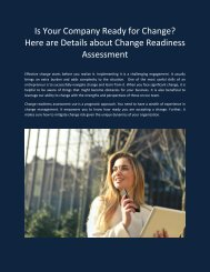 Is Your Company Ready for Change- Here are Details about Change Readiness Assessment