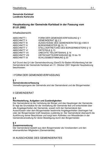 Inhaltsverzeichnis I Einleitung II Form und Inhalt