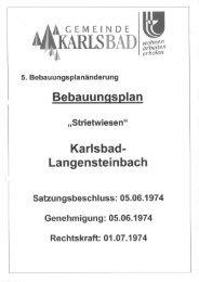 5. Änderung - Gemeinde Karlsbad