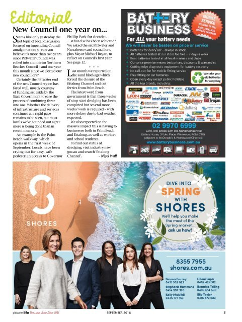 Pittwater Life September 2018 Issue