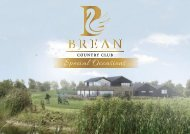 Brean Country Club Wedding Brochure 2018