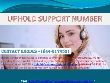 Service 24*7 Uphold Support Number [+1844-617-9531]