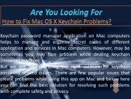 How to Fix Mac OS X Keychain Problems
