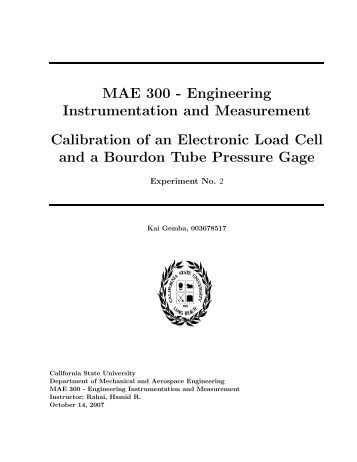 Engineering Instrumentation and Measurement Experiments