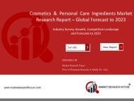 Cosmetics and Personal Care Ingredients Market PDF