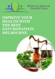 Improve Your Health with the Best Naturopath in Melbourne