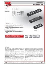 accessories 1600 logic modules - IPF Electronic GmbH