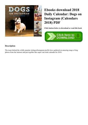 Ebooks download 2018 Daily Calendar Dogs on Instagram (Calendars 2018) PDF