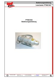 Bedienungsanleitung Lasertaster PT98C363 - IPF Electronic GmbH