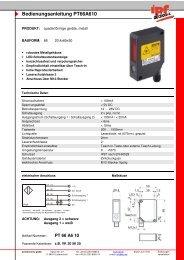 Bedienungsanleitung PT66A610 - IPF Electronic GmbH