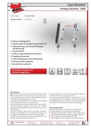 Laser-Sensoren Einweg-Schranken 2600 - IPF Electronic GmbH