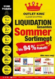 Flyer Outlet King Spiez - August 2018