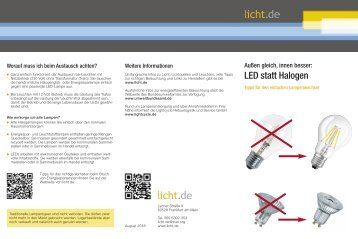 LED statt Halogen