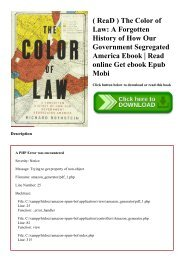 ( ReaD ) The Color of Law A Forgotten History of How Our Government Segregated America Ebook  Read online Get ebook Epub Mobi