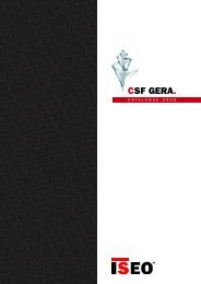 CSF GERA. - Iseo Asia Limited
