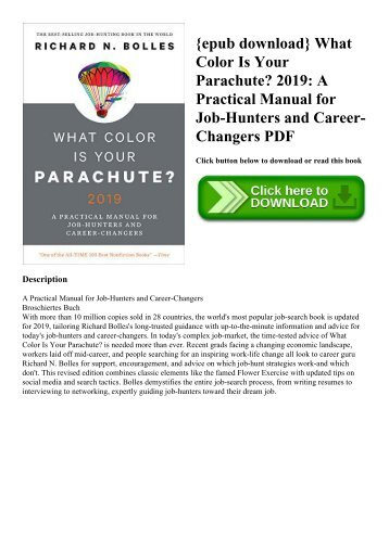 {epub download} What Color Is Your Parachute 2019 A Practical Manual for Job-Hunters and Career-Changers PDF
