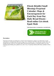 Ebook [Kindle] Small Blessings Perpetual Calendar Hope & Encouragement for Each Day from Our Daily Bread Ebook  Read online Get ebook Epub Mobi