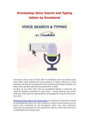 Improve store experience for your customers with Voice Commerce | Prestashop Voice Search Addon by Knowband