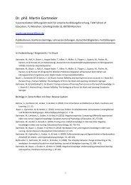 Dr. phil. Martin Gartmeier - Empirische Bildungsforschung - TUM
