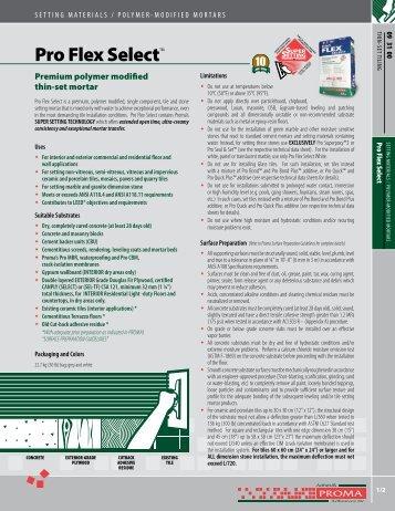 Pro Flex Select™ - Adhésifs Proma inc.