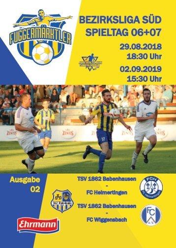 201800829 Fuggermärktler TSV 1862 Babenhausen – FC Heimertingen